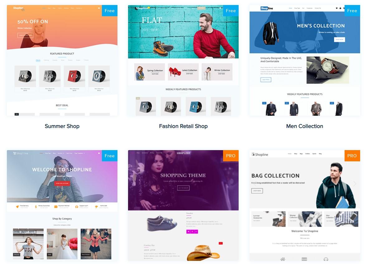 Shopline電商平台設計模板